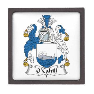 Escudo de la familia de O'Cahill Cajas De Joyas De Calidad