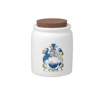 Escudo de la familia de O'Cahill Plato Para Caramelo