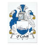 Escudo de la familia de O'Cahill Invitación 12,7 X 17,8 Cm
