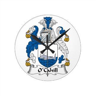 Escudo de la familia de O'Cahill Reloj De Pared