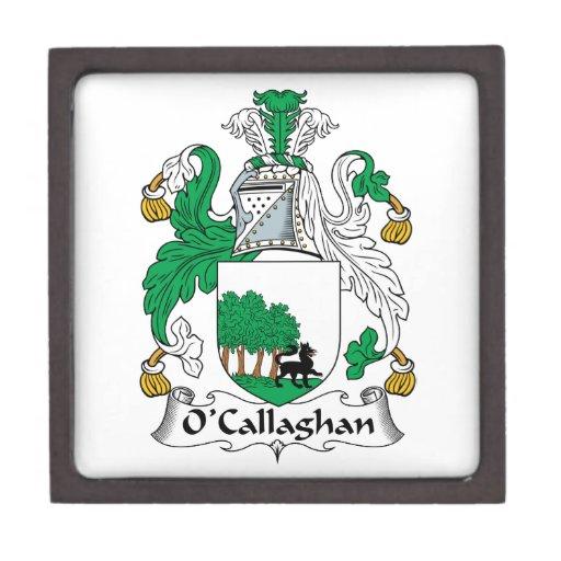 Escudo de la familia de O'Callaghan Cajas De Joyas De Calidad
