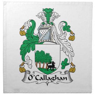 Escudo de la familia de O'Callaghan Servilletas De Papel