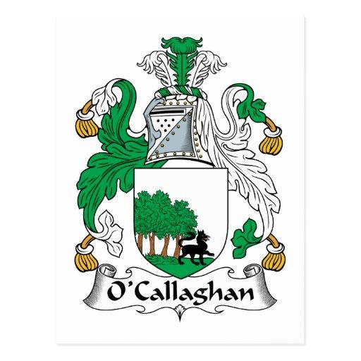 Escudo de la familia de O'Callaghan Tarjetas Postales