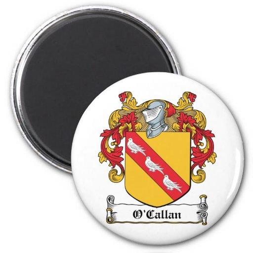 Escudo de la familia de O'Callan Imán De Nevera
