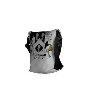 Escudo de la familia de O'Canavan Bolsa Messenger