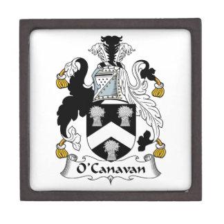 Escudo de la familia de O'Canavan Cajas De Recuerdo De Calidad