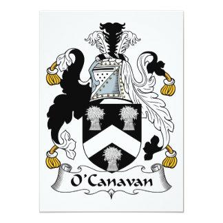 Escudo de la familia de O'Canavan Invitación