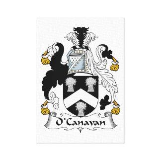 Escudo de la familia de O'Canavan Lona Estirada Galerías