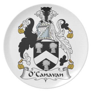 Escudo de la familia de O'Canavan Plato De Cena