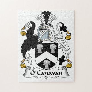 Escudo de la familia de O'Canavan Rompecabezas Con Fotos