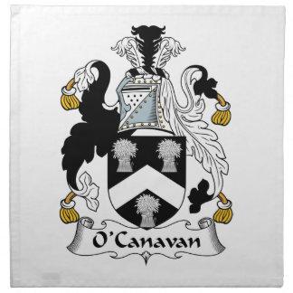 Escudo de la familia de O'Canavan Servilletas Imprimidas