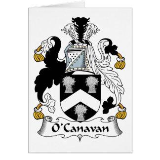 Escudo de la familia de O'Canavan Tarjeton