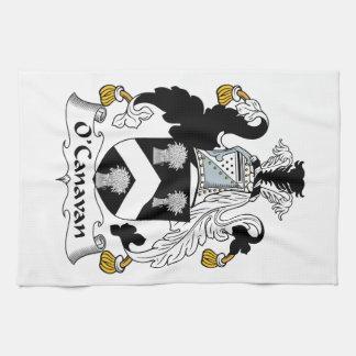 Escudo de la familia de O'Canavan Toalla De Cocina