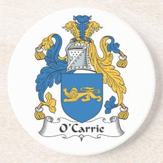 Escudo de la familia de O'Carrie Posavasos Cerveza