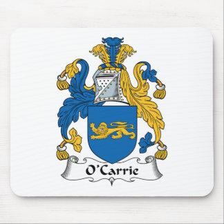 Escudo de la familia de O'Carrie Tapete De Ratón
