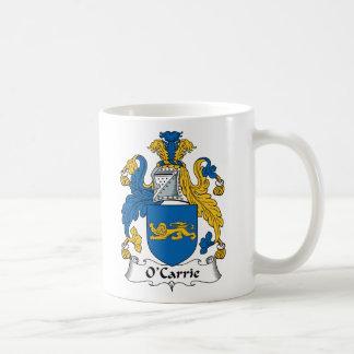 Escudo de la familia de O'Carrie Tazas De Café