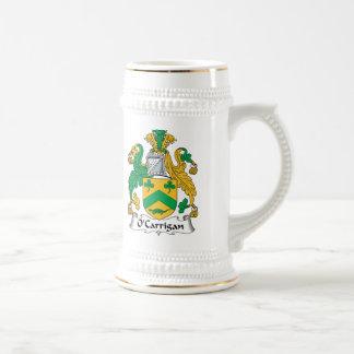 Escudo de la familia de O'Carrigan Tazas De Café