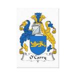 Escudo de la familia de O'Carry Impresión En Lona