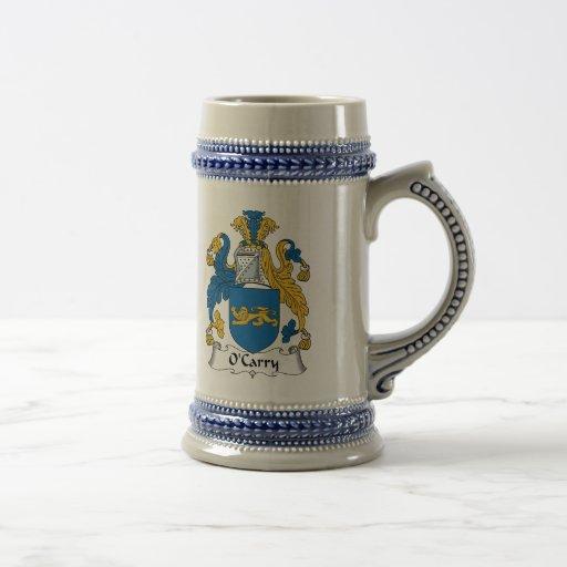 Escudo de la familia de O'Carry Jarra De Cerveza