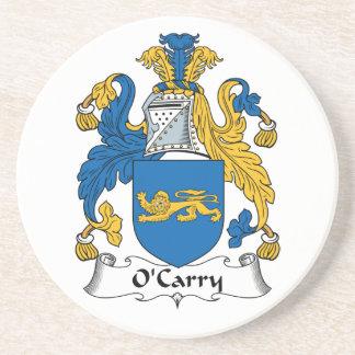 Escudo de la familia de O'Carry Posavasos Para Bebidas