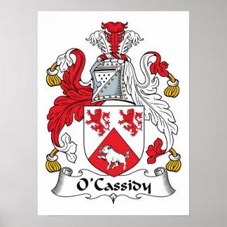 Escudo de la familia de O'Cassidy Póster