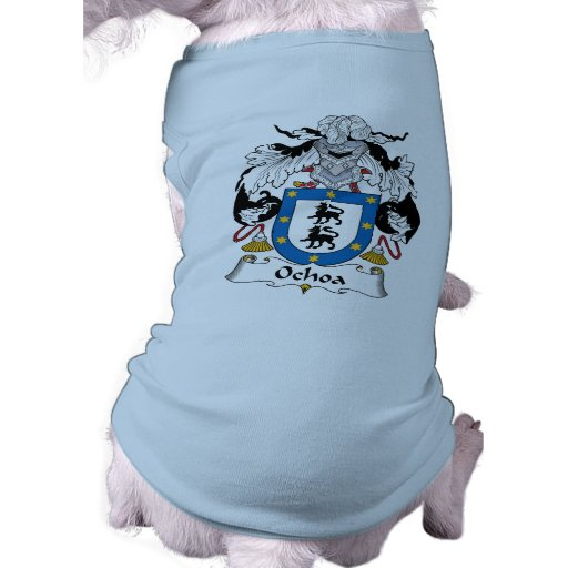 Escudo de la familia de Ochoa Playera Sin Mangas Para Perro