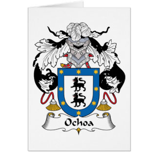 Escudo de la familia de Ochoa Tarjeta De Felicitación
