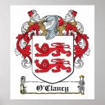 Escudo de la familia de O'Clancy Poster