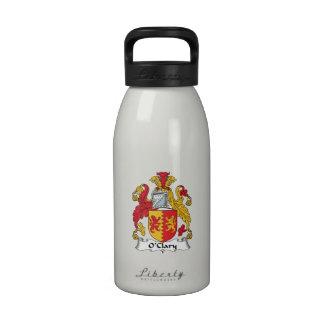 Escudo de la familia de O'Clary Botella De Agua