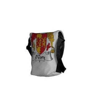 Escudo de la familia de O'Clary Bolsas De Mensajería