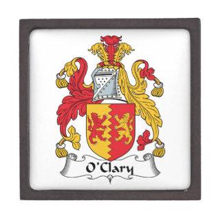 Escudo de la familia de O'Clary Caja De Recuerdo De Calidad