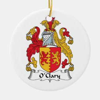 Escudo de la familia de O'Clary Ornamento Para Arbol De Navidad