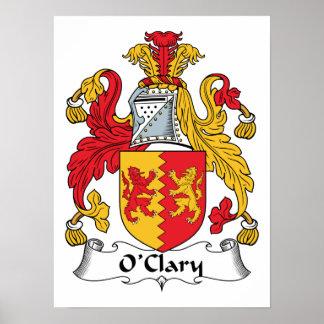 Escudo de la familia de O'Clary Poster