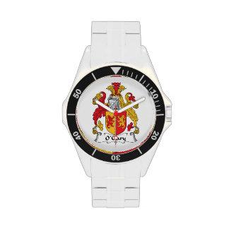 Escudo de la familia de O'Clary Relojes