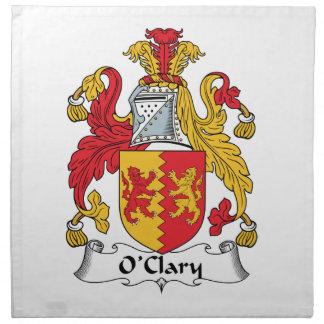 Escudo de la familia de O'Clary Servilletas