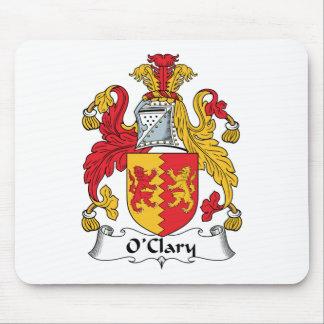 Escudo de la familia de O'Clary Tapetes De Raton
