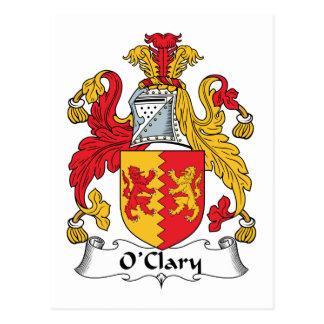 Escudo de la familia de O'Clary Postal