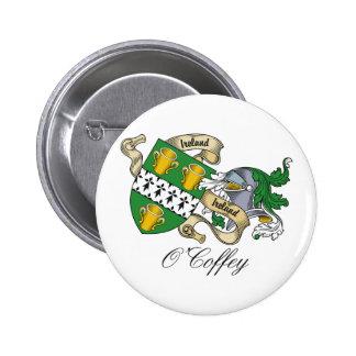 Escudo de la familia de O'Coffey Pin