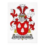 Escudo de la familia de O'Cogan Invitacion Personalizada