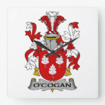 Escudo de la familia de O'Cogan Reloj De Pared