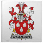 Escudo de la familia de O'Cogan Servilletas