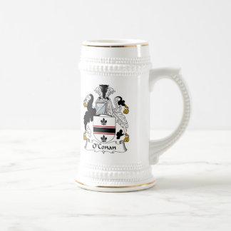 Escudo de la familia de O'Conan Jarra De Cerveza