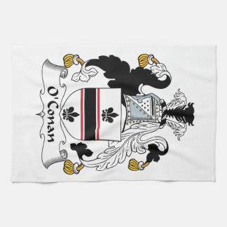 Escudo de la familia de O'Conan Toalla De Mano