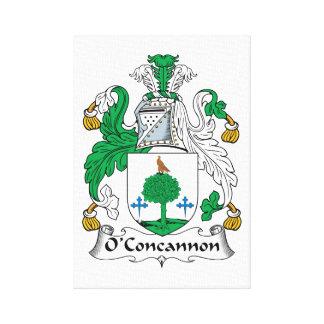 Escudo de la familia de O'Concannon Impresión En Lienzo