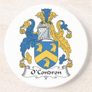 Escudo de la familia de O'Condron Posavasos Diseño