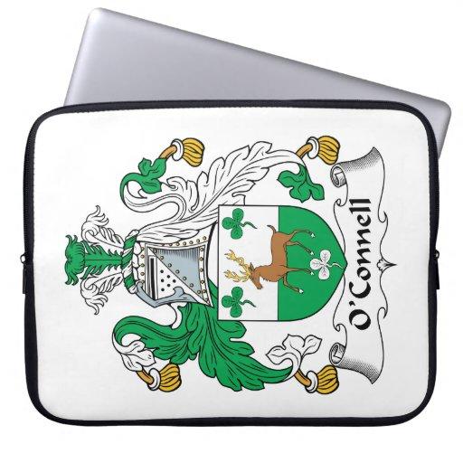 Escudo de la familia de O'Connell Funda Portátil