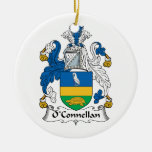 Escudo de la familia de O'Connellan Ornamento Para Arbol De Navidad