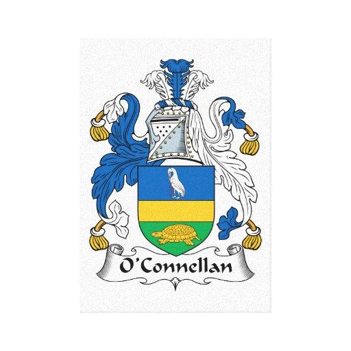 Escudo de la familia de O'Connellan Lona Envuelta Para Galerías