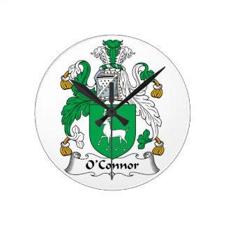 Escudo de la familia de O'Connor Relojes De Pared