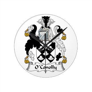 Escudo de la familia de O'Conolly Relojes De Pared